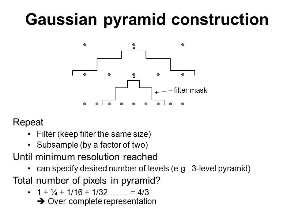 Gaussian pyramid construction