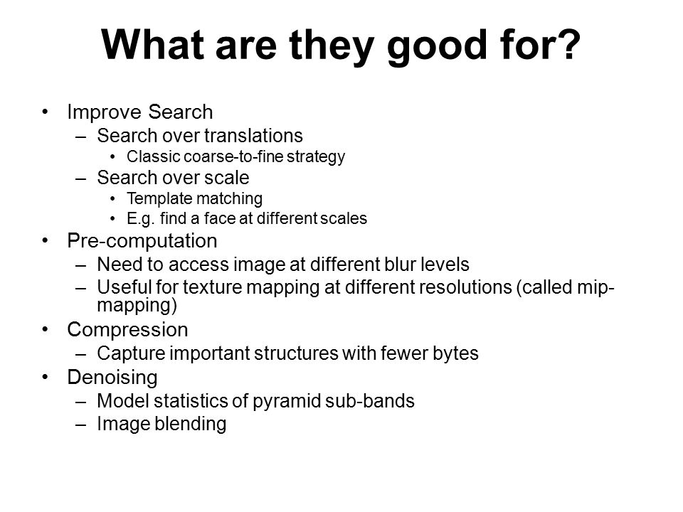What are they good for Improve Search Pre-computation Compression