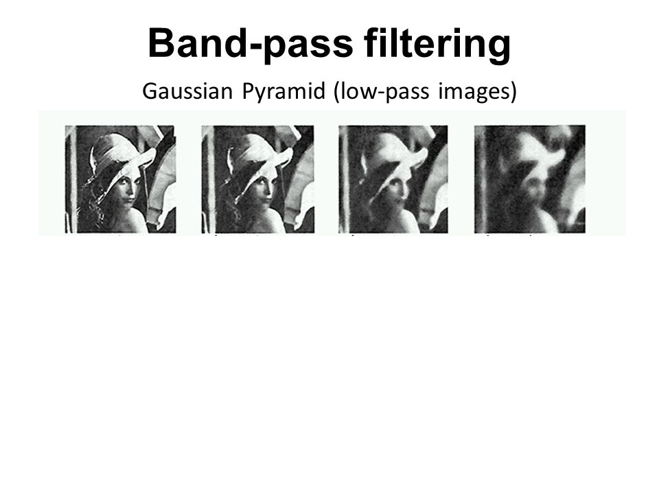 Band-pass filtering Laplacian Pyramid (subband images)