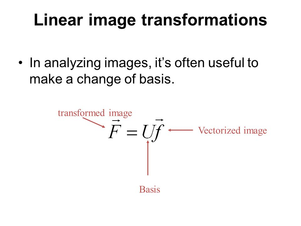Linear image transformations