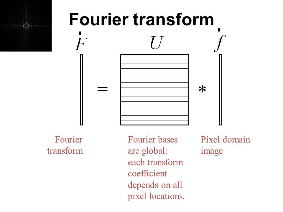 = * Fourier transform Fourier transform