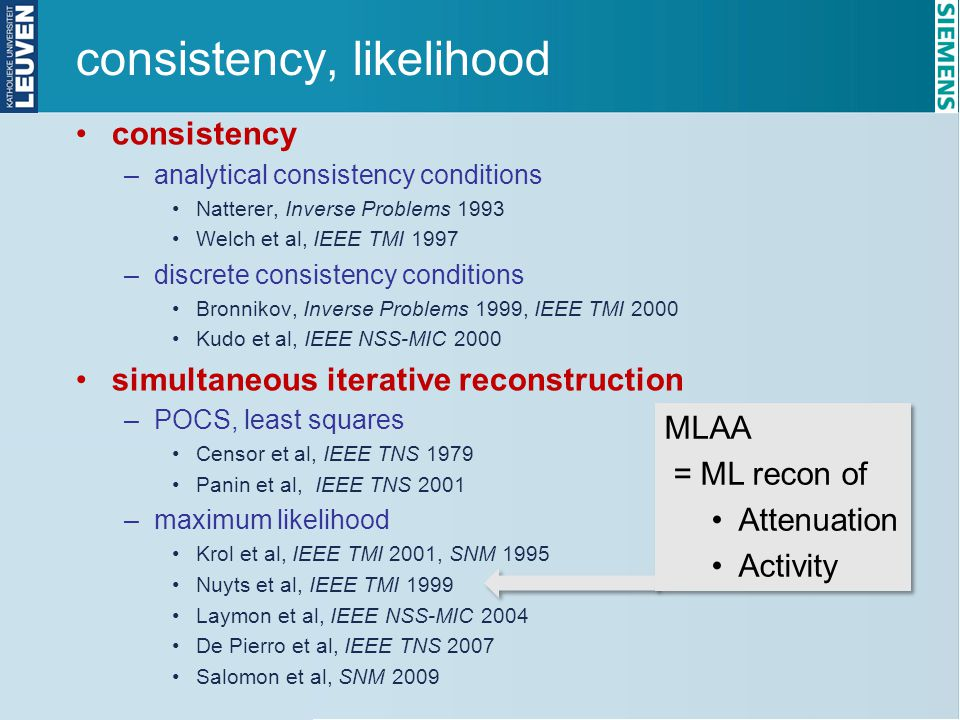 consistency, likelihood