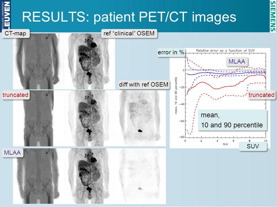 RESULTS: patient PET/CT images