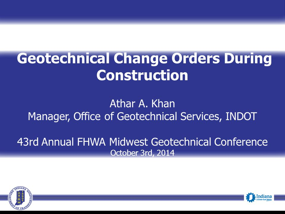Geotechnical Change Orders During Construction