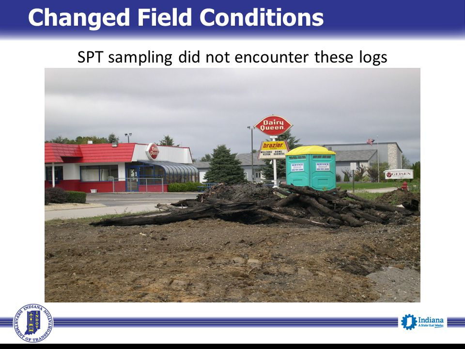 SPT sampling did not encounter these logs