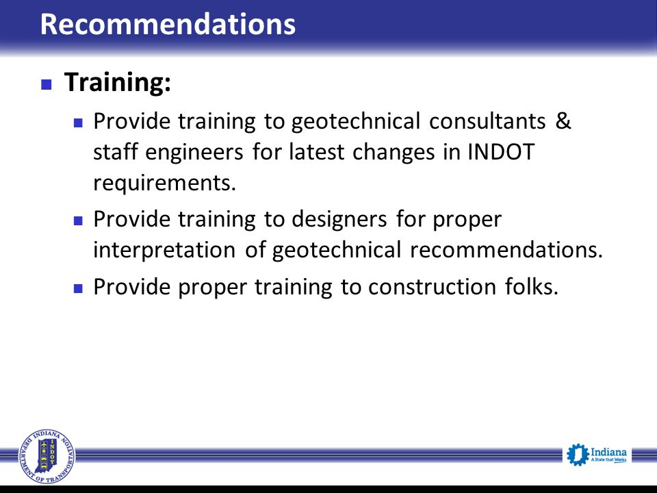 Recommendations Training:
