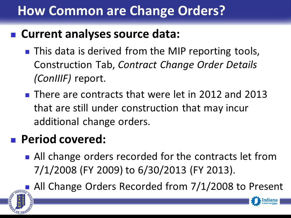 How Common are Change Orders