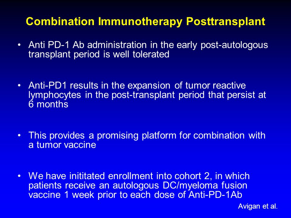 Combination Immunotherapy Posttransplant