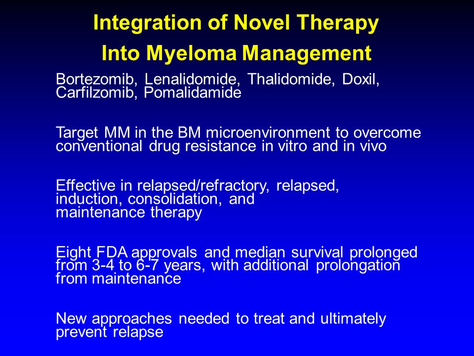 Integration of Novel Therapy Into Myeloma Management