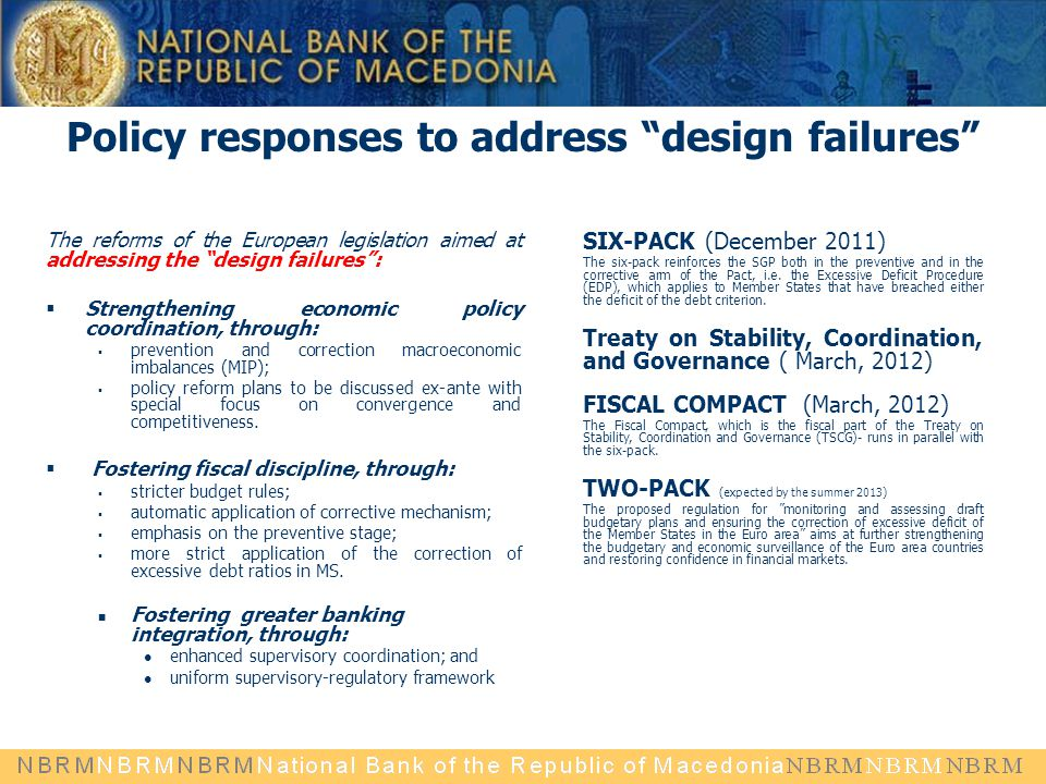 Policy responses to address design failures