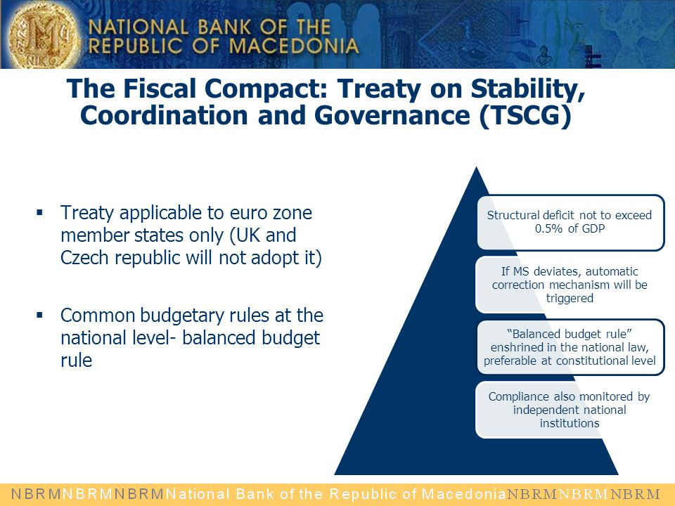 The Fiscal Compact: Treaty on Stability, Coordination and Governance (TSCG)