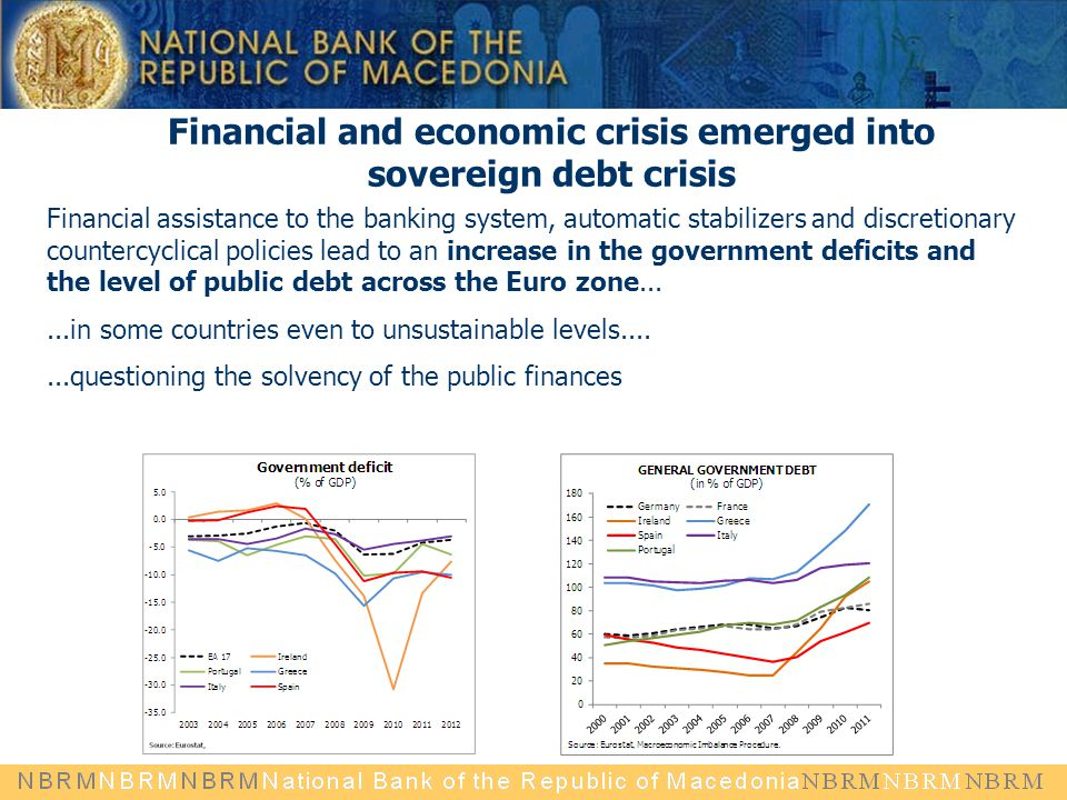 Financial and economic crisis emerged into sovereign debt crisis