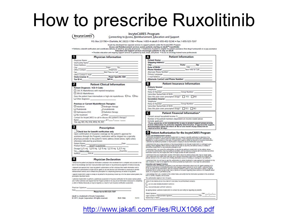 How to prescribe Ruxolitinib