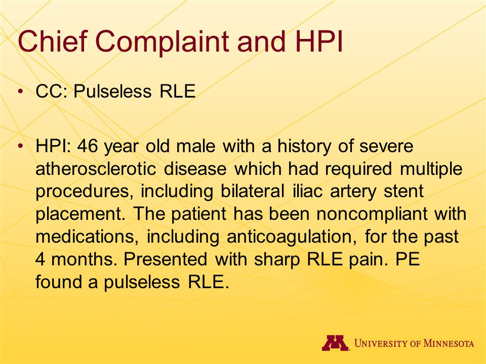 Chief Complaint and HPI