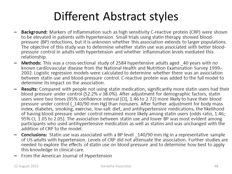 Different Abstract styles