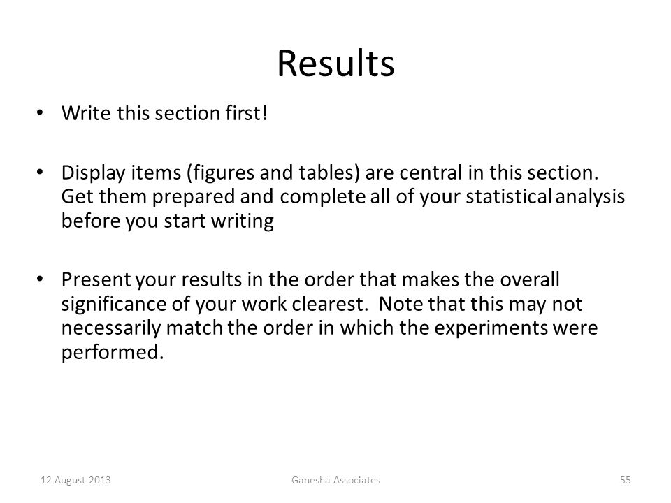 Results Write this section first!