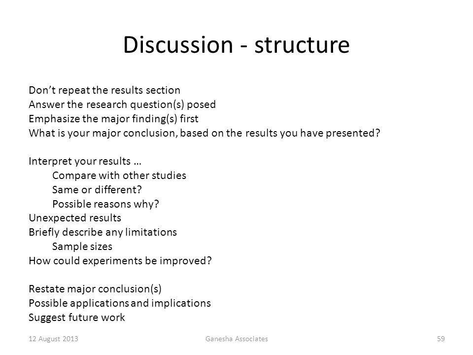 Discussion - structure