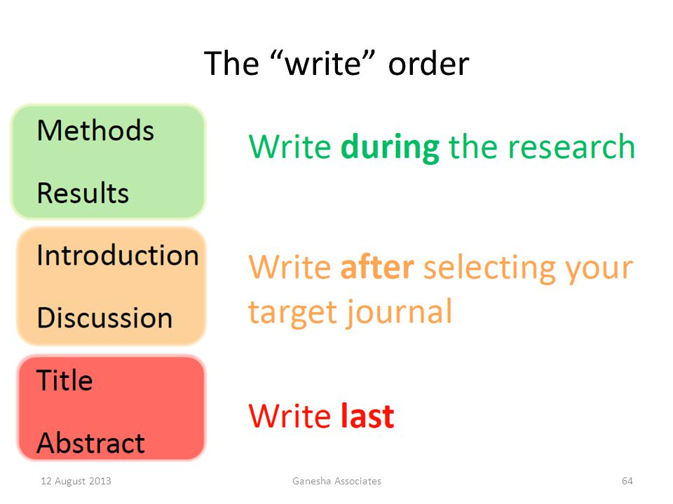 The write order