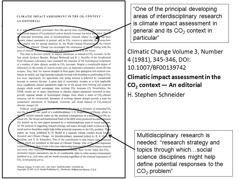 Climatic impact assessment in the CO2 context — An editorial
