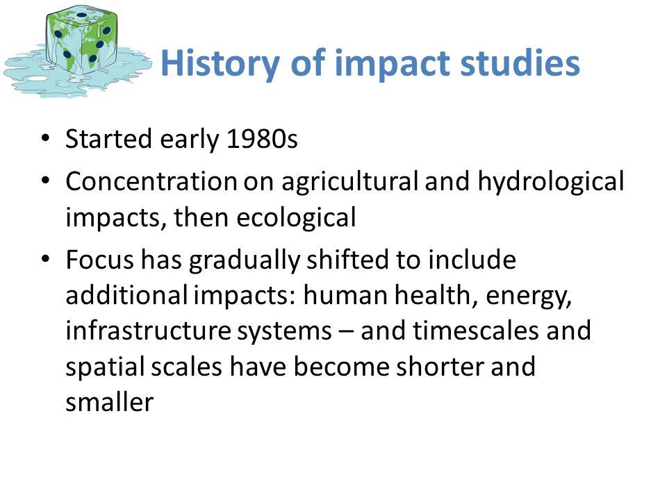 History of impact studies
