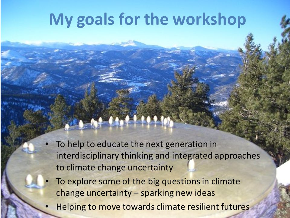 My goals for the workshop