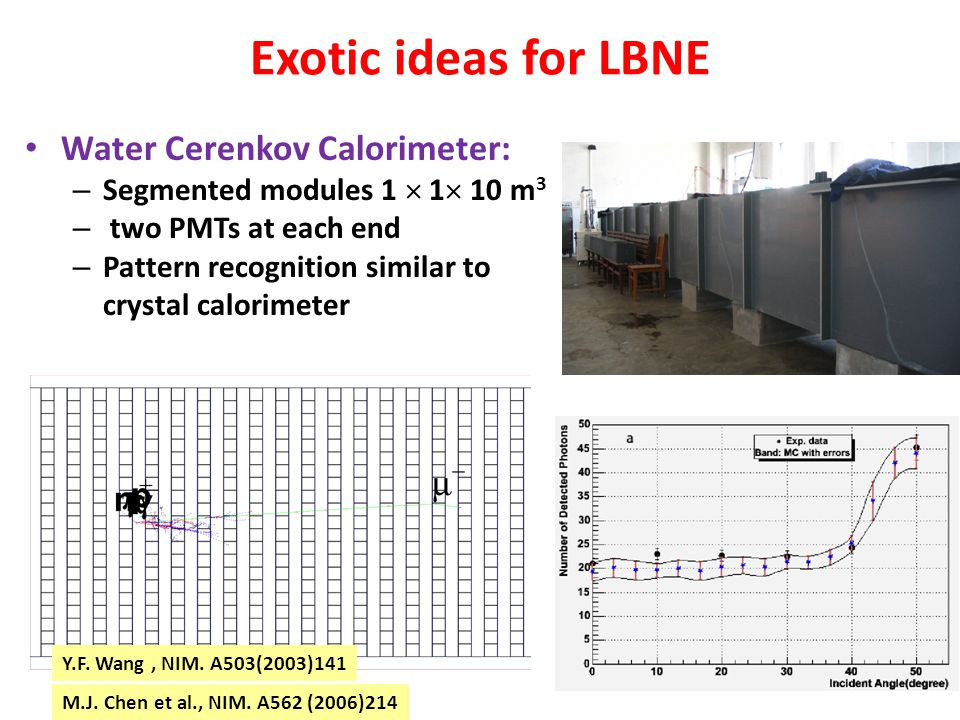 Exotic ideas for LBNE Water Cerenkov Calorimeter: