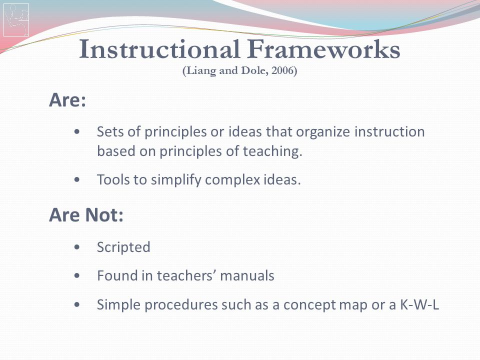 Instructional Frameworks (Liang and Dole, 2006)