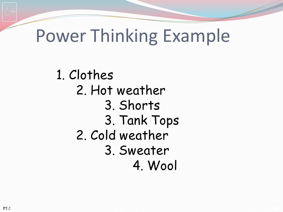 Power Thinking Example