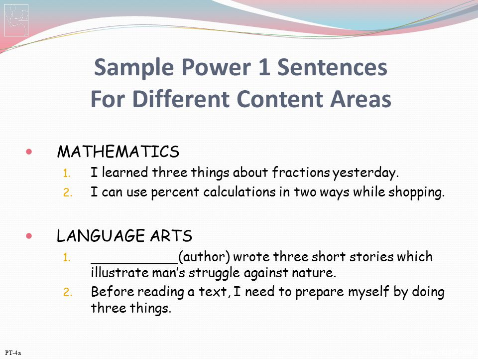 Sample Power 1 Sentences