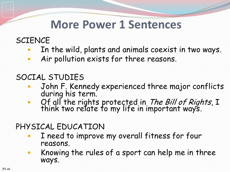 More Power 1 Sentences SCIENCE