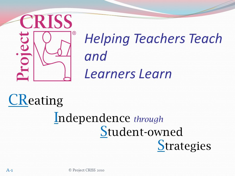 Helping Teachers Teach and Learners Learn
