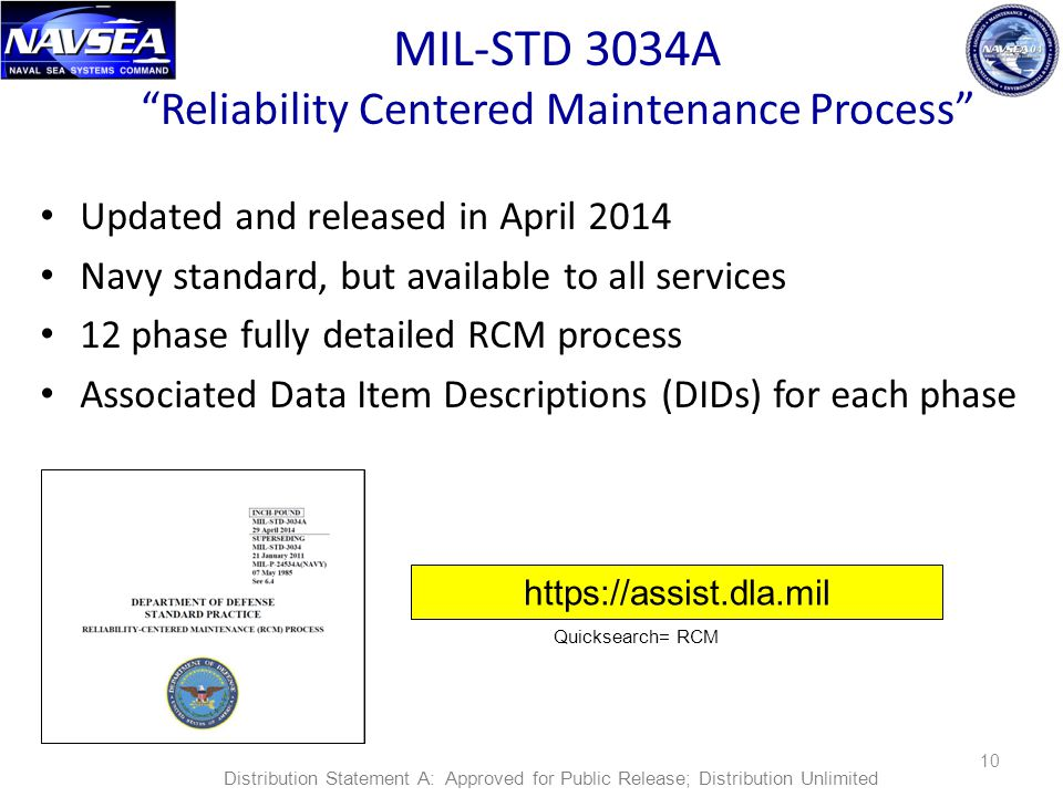 MIL-STD 3034A Reliability Centered Maintenance Process