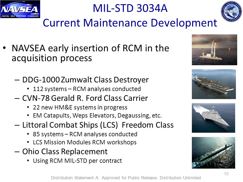 MIL-STD 3034A Current Maintenance Development