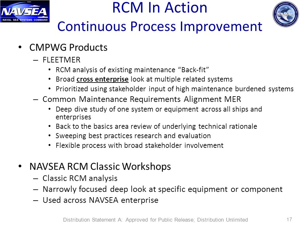 RCM In Action Continuous Process Improvement