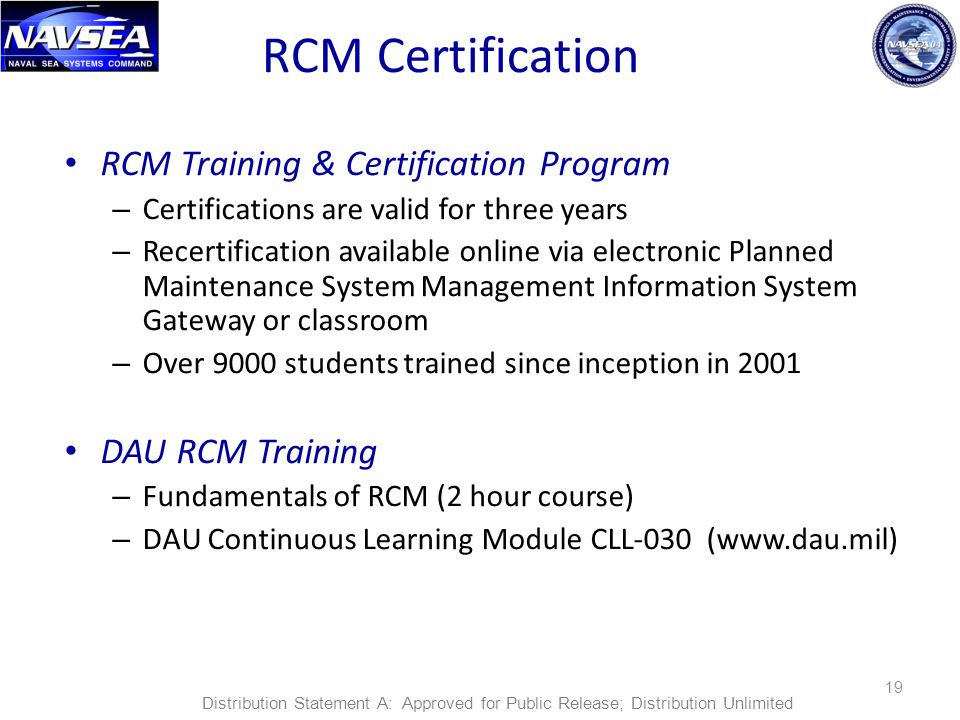 RCM Certification RCM Training & Certification Program