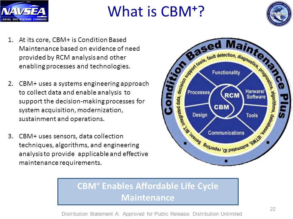 CBM+ Enables Affordable Life Cycle Maintenance