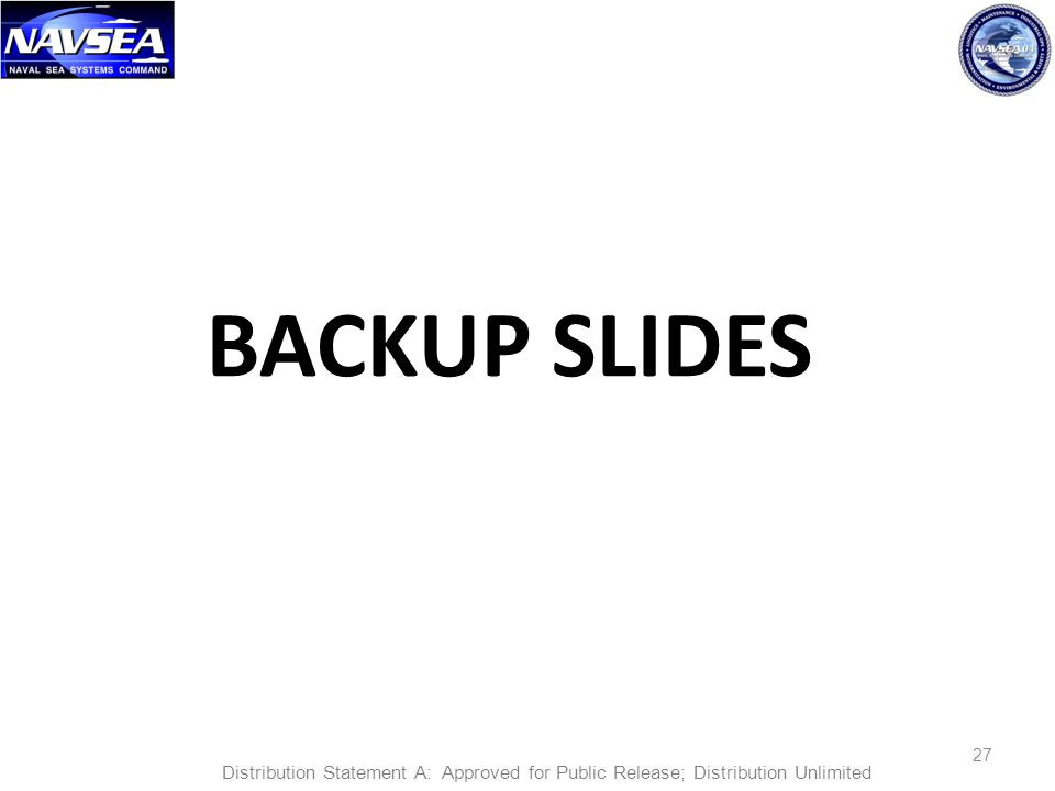 BACKUP SLIDES Distribution Statement A: Approved for Public Release; Distribution Unlimited