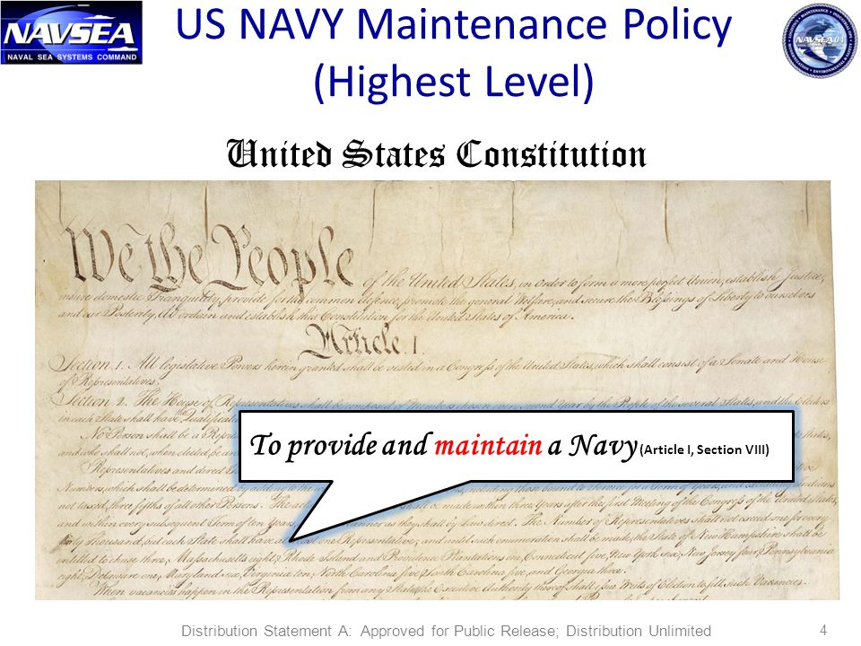 US NAVY Maintenance Policy (Highest Level)