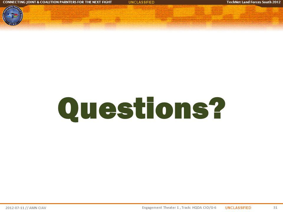 Questions 2012-07-11 // AMN CIAV