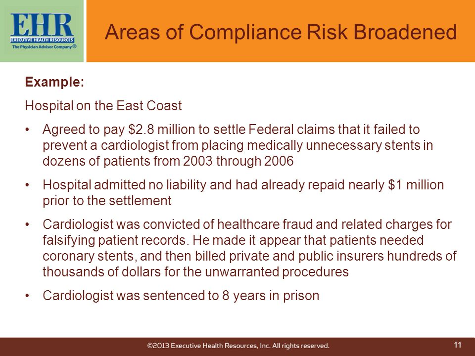 Areas of Compliance Risk Broadened