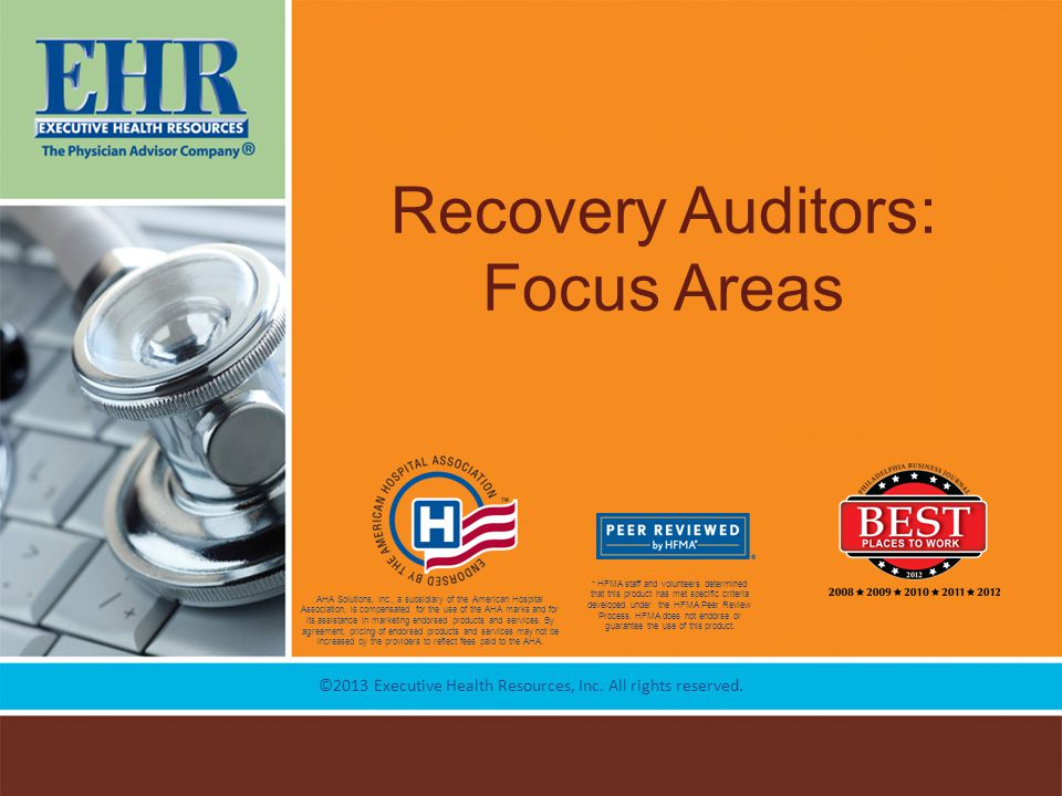 Recovery Auditors: Focus Areas