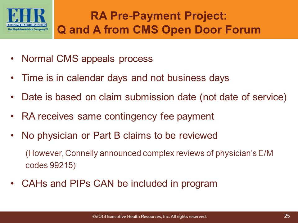 RA Pre-Payment Project: Q and A from CMS Open Door Forum