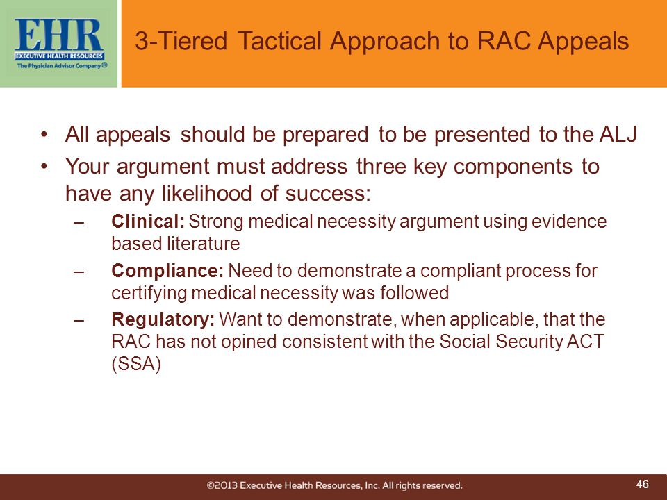 3-Tiered Tactical Approach to RAC Appeals