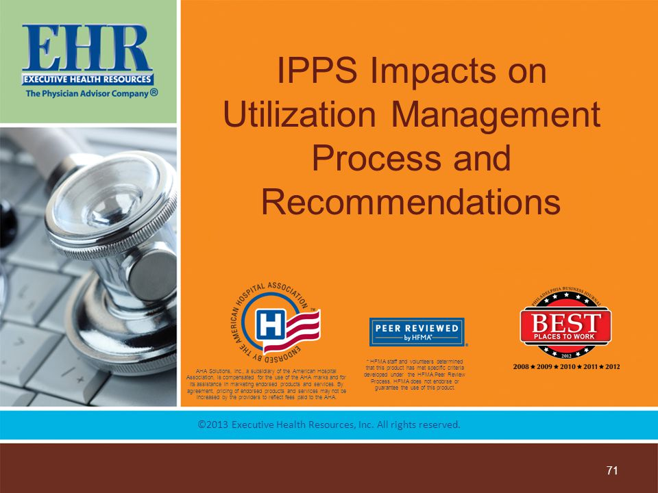 IPPS Impacts on Utilization Management Process and Recommendations