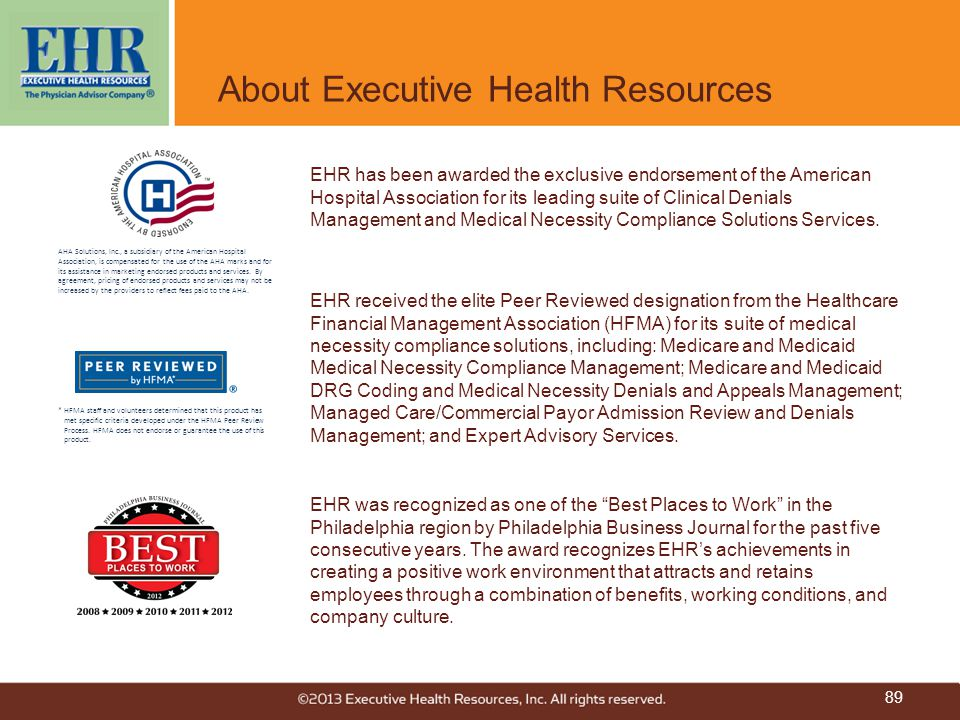 About Executive Health Resources