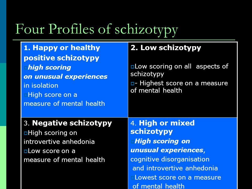 Four Profiles of schizotypy