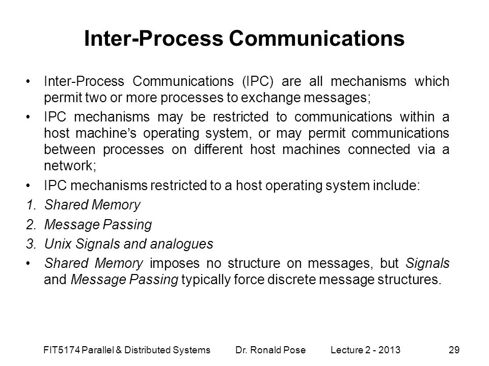 Inter-Process Communications