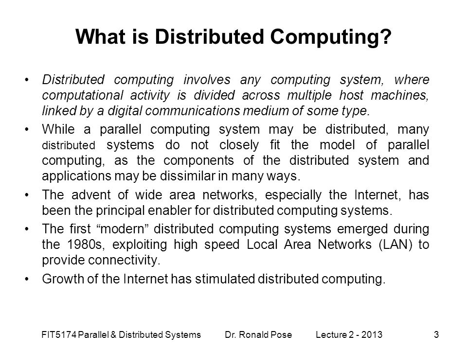 What is Distributed Computing