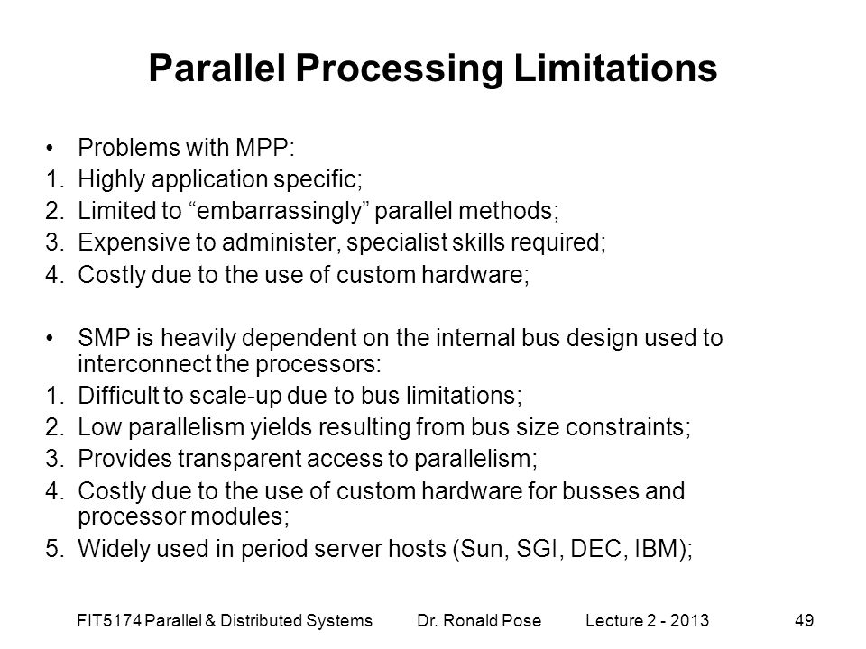 Parallel Processing Limitations