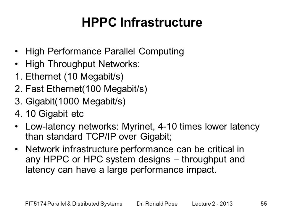 HPPC Infrastructure High Performance Parallel Computing